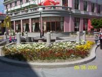 Údržba verejnej zelene, kvetiny v centre RK