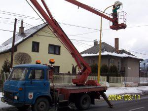 údržba verejného osvetlenia
